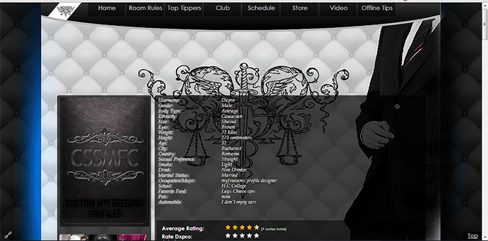 custom myfreecams profile design 33