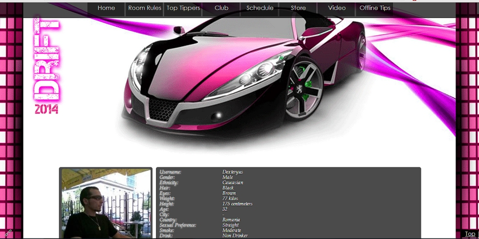 Fast Deift custom MyFreeCams profile design