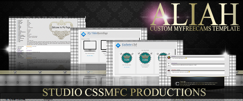 Aliah Custom MyFreeCams designed template - Cover