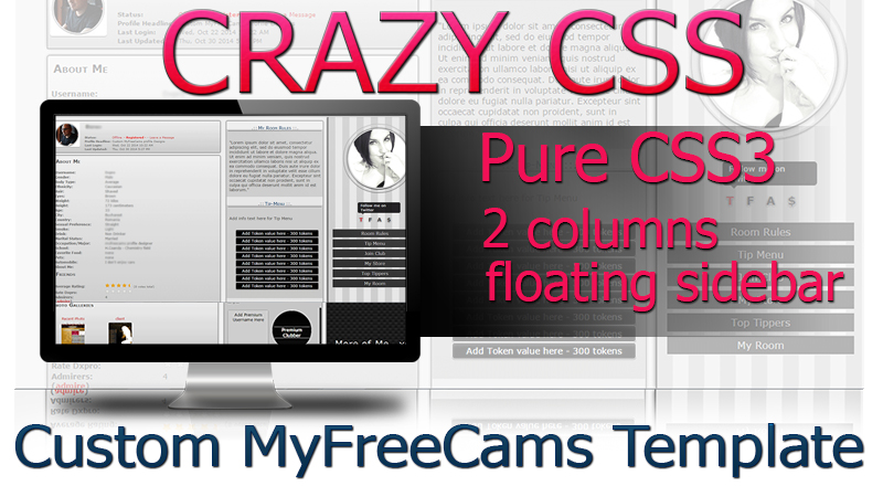 Crazy-CSS-Custom-MyFreeCams-Profile-Template