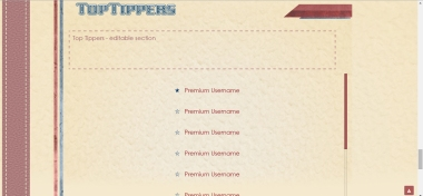 Retro Stripes - MyFreeCams template - The Top Tippers widget