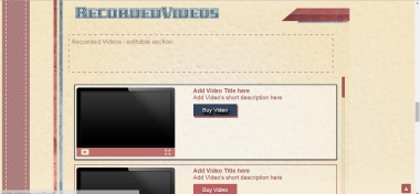 Retro Stripes - MyFreeCams template - The Video widget